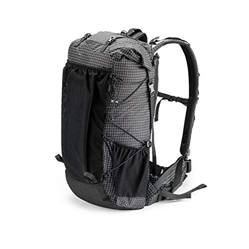 Topashe Ergonómica para Viajes Excursiones Acampadas Trekking,Mochila de Gran Capacidad para Exteriores, Bolsa de Senderismo-Black_60L,Impermeable Mochila de Marcha Trekking