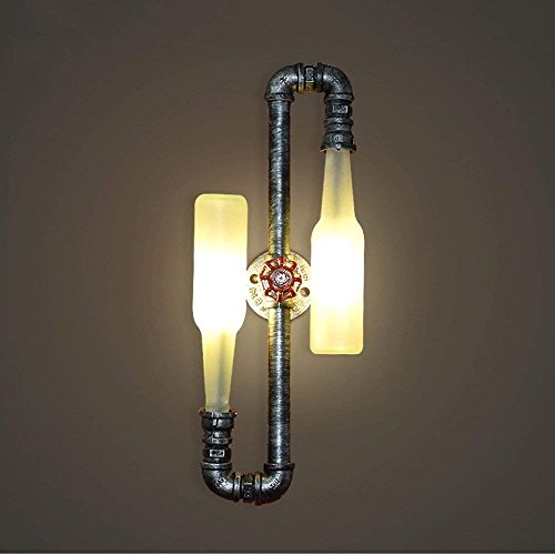 MOZUSA el Norte de Europa Creativa de los Iluminación- la lámpara de Pared del Arte del Hierro de licores Botellas de Beber Tubos Principal Doble Retro Industrial Viento Living Room Bar Cafetería Res