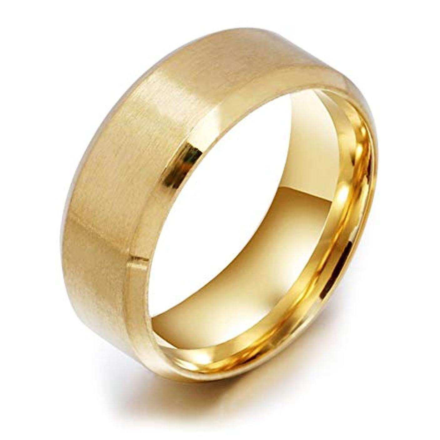 背が高い溶かす絶対にステンレス鋼医療指リング磁気減量リング男性のための高いポーランドのファッションジュエリー女性リング-ゴールド10