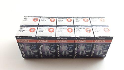 Osram Truckstar Pro 64215 H7 - Bombillas (10 unidades, 24 V, 70 W, E 24 V)