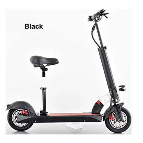 electric bicycle Elektrische opvouwbare supersterke motor voor volwassenen, 500 W van de elektrische scooter 60 km/H E-scooter met geleid licht en Hd-weergave black-48V-15Ah