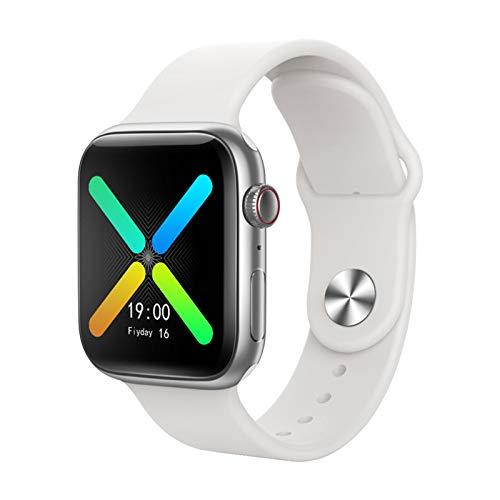Montre Connectée X8 pour Homme Femme Enfant, Moniteur de Fréquence Cardiaque, Podomètre, Calories, Montre de Sport Bluetooth étanche IP67, avec écran HD de 1.54' (Blanc)