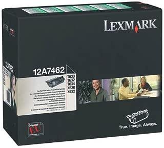 Lexmark 12A7462 T630 T632 T634 X630 X632 X634 Toner Cartridge (Black) in Retail Packaging