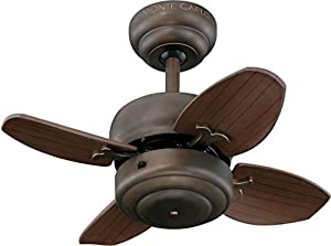 """Monte Carlo 4MC20BS Mini 20"""" Ceiling Fan with Pull Chain for..."""