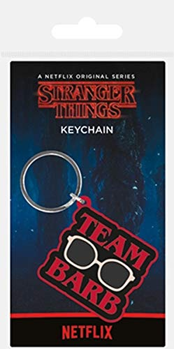 Keychain Stranger Things - Llavero de Goma Team Barb