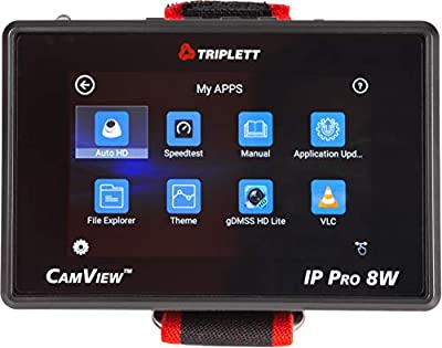 Triplett CamView IP Pro-8W 4-inch IPS Touchscreen NTSC/PAL/HD-CVI 3.0/AHD 3.0/HD-TVI 3.0 Camera Tester with PoE and Network Test (8066)