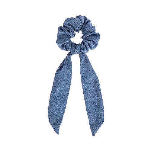 Boho Drucke Stirnbänder, Gummi Seile Band-Haar-Band-elastischer Pferdeschwanz Schal Blumenbogen Scrunchie Haar-Bogen-Krawatten-Haar-Seil (12 hellblau)