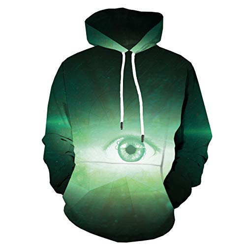 Hoodie Galaxy 3D 3D Flame Sweatshirt Herren