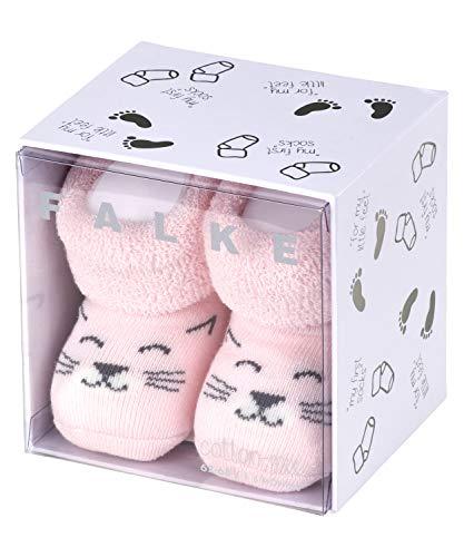 FALKE Unisex Baby Socken Baby Cat, Baumwolle, 1 Paar, Rosa (Powder Rose 8902), 0-1 Monate (Neugeborene Ι 50-56cm)