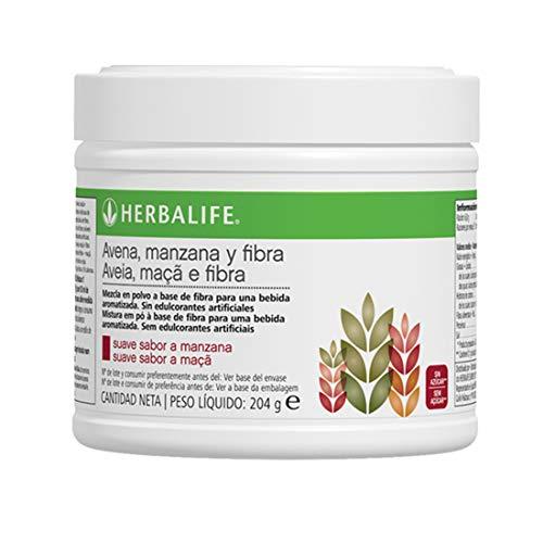 Bebida de Avena, Manzana y Fibra 204 g Herbalife. Complemento nutricional en polvo indicado para la mejora del tránsito intestinal rico en fibras solubles e insolubles
