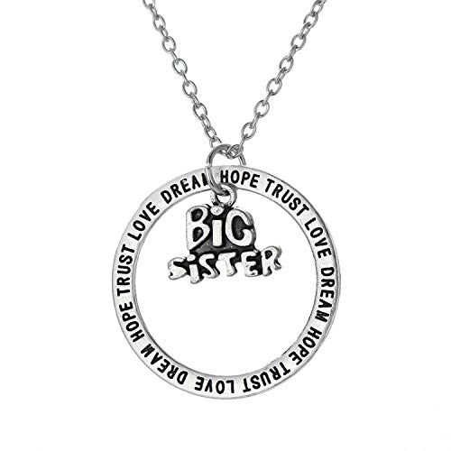 Lidylinashop Mum Necklace Sterling Silver Mum and Daughter Necklace Gifts for Mum Personalised Jewellery for Women Necklaces Birthday Gifts for Mum Big Sister