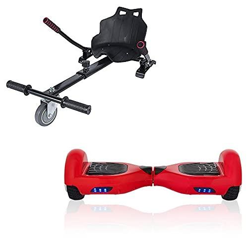 ACBK Hoverboard Tango con Kart Silla, Juventud Unisex, Rojo, Ruedas 6.5'