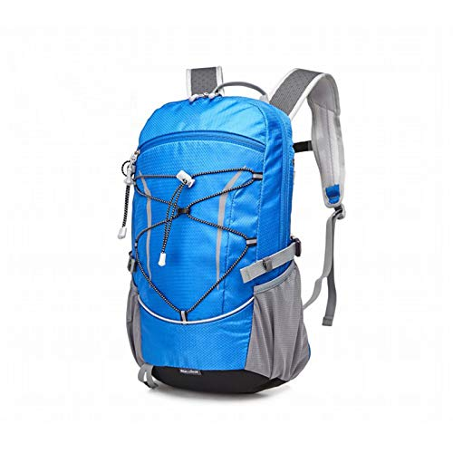 GAOJIN Hiking Backpack 28L Mountaineering Backpack with Rain Cover for Men Women,Tear And Water-Resistant Ideal for Camping Climbing Biking,Blue