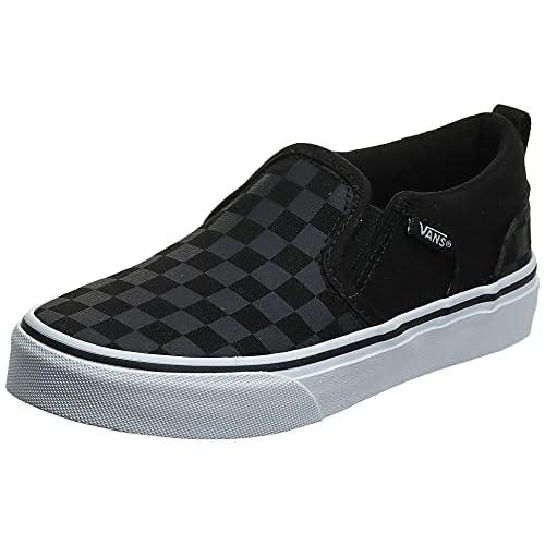 Vans Asher - Scarpe da Ginnastica Basse Bambino, colore Nero (checker/black/black), taglia 34 EU