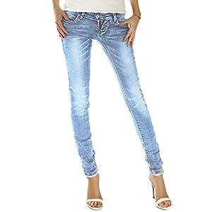 bestyledberlin Damen Jeans Slim Fit Hüftjeans
