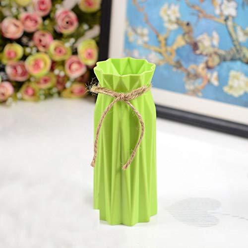 NA Vaas Home Decoratie Europees-Style Landelijke Stijl Plastic Vaas Bloemenmand Anti-Herfst Creatieve Bruiloft Decoratie Groen