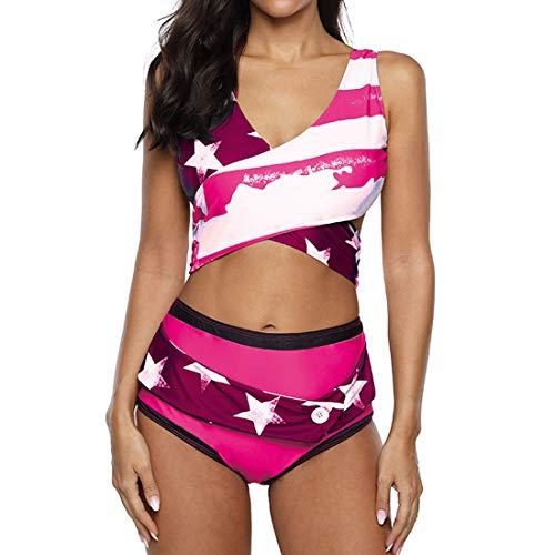 Costume Da Bagno Donna Bikini Imbottito Portacollo Push Up Criss Cross Bikini Top Vita Alta Avvolgere I Pantaloni Del Bikini Sexy Scollo A V Costumi Da Bagno Sportivi Due Pezzi Beachwear Spiaggia S