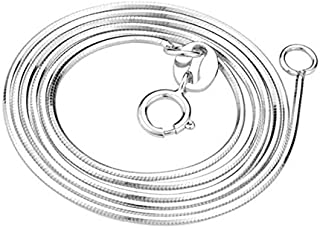 Silver Plated Snak Without Pendant Necklace 925