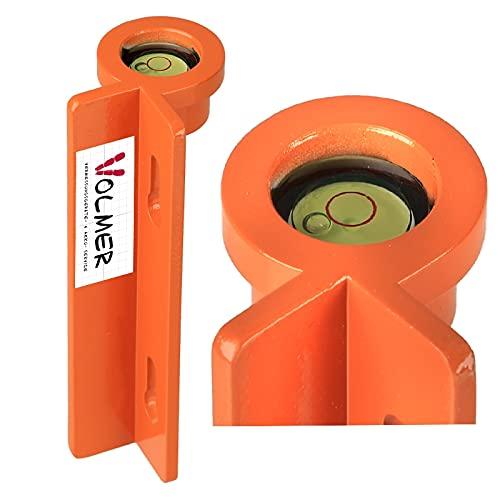 Lattenrichter LR 39 M - Metall, orange, Messaufgaben im Baubereich, Lotrechtes positionieren