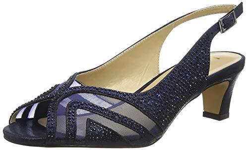 Lotus Damen Glinda Peeptoe Pumps, Blau Marineblau Ej, 37 EU