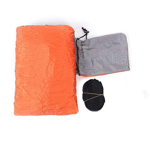 Nimomo Hamaca - Ampliar Alargar Cama Colgante al Aire Libre Camping Viaje Hamaca Columpio para Dormir(Gris + Naranja)