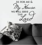 My Thoughtful Wall As for Me and My House Vinyl Wall Decal, Black, 17 1/2 x 19 3/4 inches
