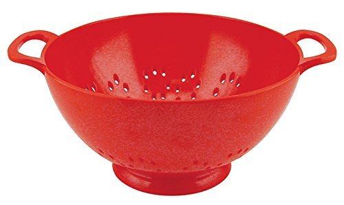 ZAK Designs 0050-9980E - Scolapasta 23 cm, Colore: Rosso