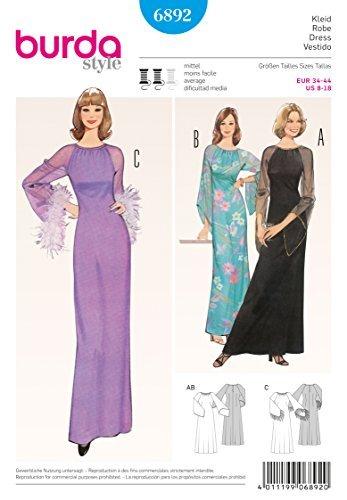Burda Vintage stijl jurk naaien patroon 6892 door Burda