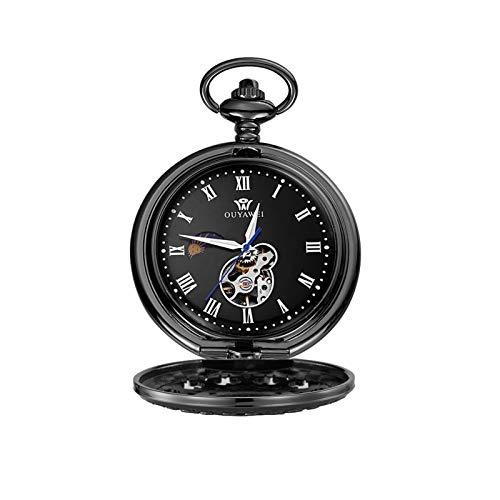 Personalizado Hollow Tallado Diseño Grabado Reloj de Bolsillo de Cuarzo, Reloj de Bolsillo de Estilo Vintage con Cadena, Regalo para el día de cumpleaños Día de Navidad día de Navidad Hombres
