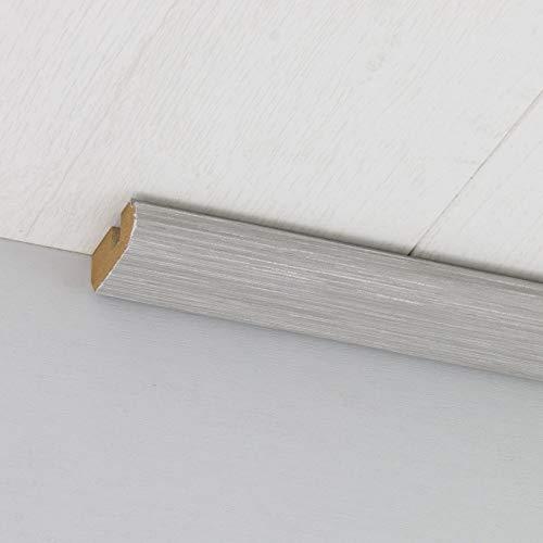 Paneel-Abschlussleiste Abdeckleiste mit Schattenfuge aus MDF in Allure Grau 2600 x 35 x 17 mm