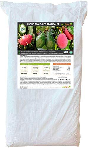 Cultivers ECO10F00154 Dünger, Organischer Dünger, 25 kg, für tropische Pflanzen und Bäume, für Avocircado, Mango, Litchi, Pitahaya, Papaya und Guave, 100% natürlich