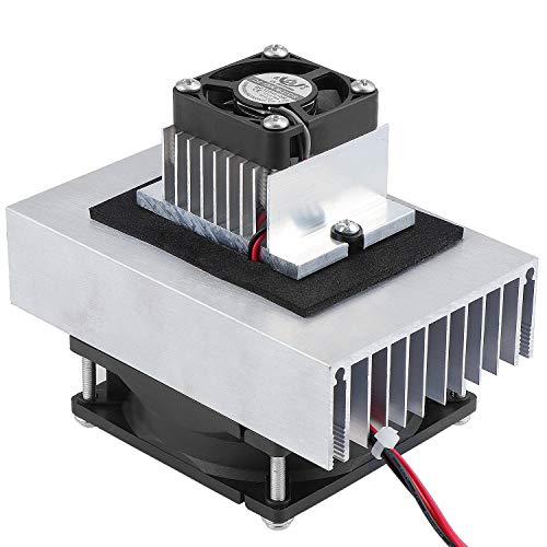 WiMas 12V Thermoelektrische Kühler Peltier, Kühlsystem Kältemittel Kit, Halbleiterkühler, Leitungsmodul + Kühler + Lüfter, TEC1-12706