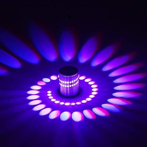 Luz de Techo Lámpara de Pared LED Regulable Efecto Espiral Lámpara de Balcón, con Mando a Distancia para Pasillo Dormitorio Balcón Pasillo Luz Interior
