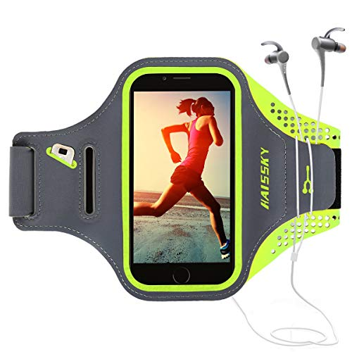 Guzack Brazalete Deportivo Running para Moviles Phone, Prueba de Sudor Ejecutando Brazalete con Clave Ranura para Correr Gimnasio para iPhone 6 Plus/7 Plus/8 Plus, Samsung Galaxy S7 Edge, Huawei P8
