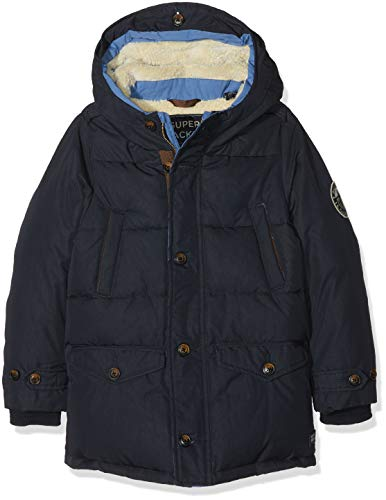 Scotch & Soda jongens jas/jack Quilted jacket with hood & teddy lining in longer length