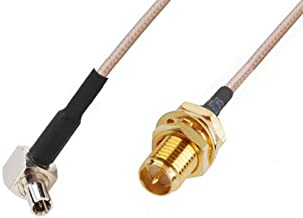 2 x RF pigtail cable RP-SMA female to TS9 male right angle RG316 30CM