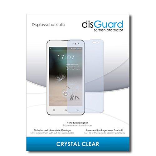 disGuard® Bildschirmschutzfolie [Crystal Clear] kompatibel mit Hisense HS-U971AE [2 Stück] Kristallklar, Transparent, Unsichtbar, Extrem Kratzfest, Anti-Fingerabdruck - Panzerglas Folie, Schutzfolie