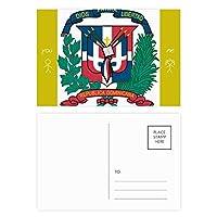 ドミニカの共和国の国章の国 友人のポストカードセットサンクスカード郵送側20個