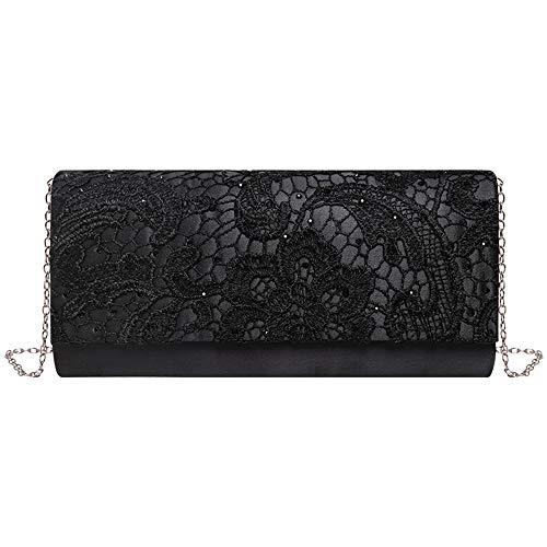 Nico Louise women's Floral Lace Evening Bag wedding Purse Shoulder Clutch Bag