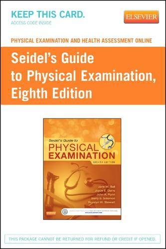 Physical Examination and Health Assessment Online for Seidel's Guide to Physical Examination (Access