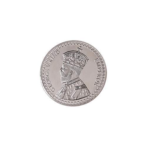 Shri Balaji Abhushan Bhandar King Print Round Silver Shape Coin for wedding gifts (100gms, Silver)