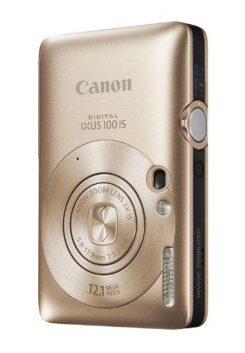 Canon Digital IXUS 100 IS Digitalkamera (12 MP, 3-fach opt. Zoom, 6,4cm (2,5 Zoll) Display, HDMI, SLIM) Gold