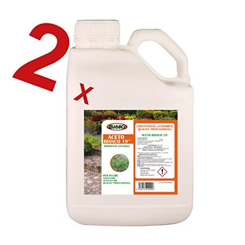 Bioki  ACETO concentrato Offerta 2 taniche da 5 Litri a Prezzo, eliminare Le erbacee e Il calcare.