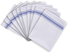 Discounted Cleaning Supplies Cotton Catering Tea Towels Pack of 10 Kitchen Restaurant Bar Glass Cloths