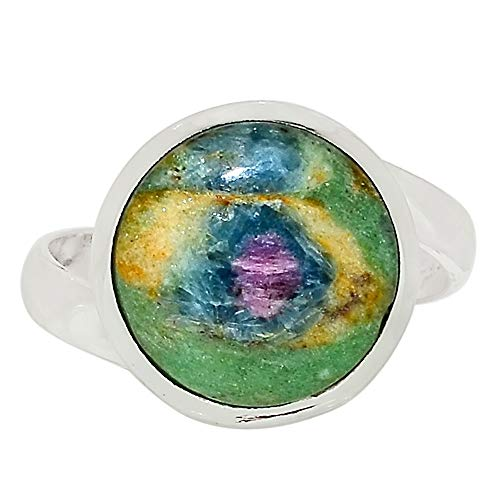 Xtremegems Ruby in Fuchsite 925 Sterling Silver Ring Jewelry Size 8.5 33522R