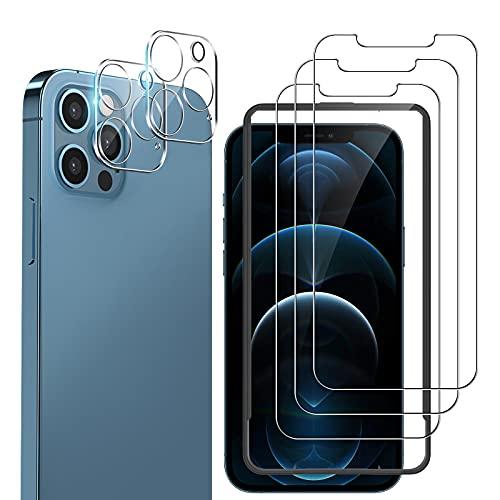 laxikoo 5 Pack Protector Pantalla Compatible con iPhone 12 Pro MAX (6.7...