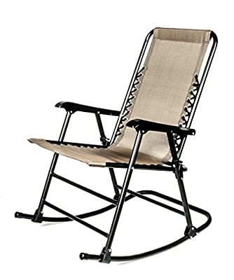 Camco 51851 Tan Folding Rocking Director's Chair