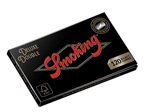miquel y costas Smoking Deluxe Black Regular - Cartine per Sigarette, con 50 quaderni da 60 Fogli
