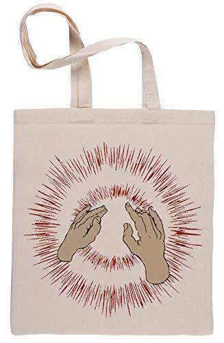Aufzug Ihre Dünn Fäuste Wiederverwendbar Einkaufstasche Reusable Beige Shopping Bag