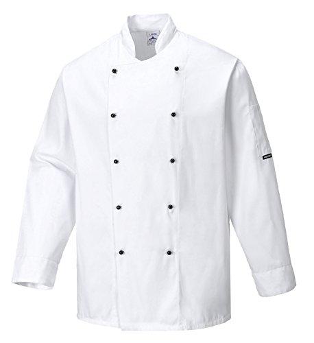 Portwest C834WHRXXL Chaqueta de Chef, Somerset, XXL, Blanco (White)